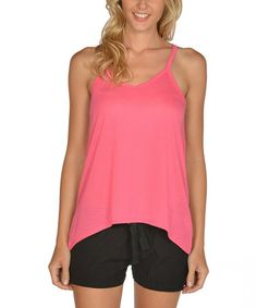 Another great find on #zulily! Hot Pink Racerback Tank - Women by Lagaci #zulilyfinds