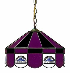 Colorado Rockies 16in Pub/Bar Stained Glass Lamp/Light