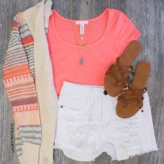 Sweet Elaine Cardigan - Coral #Fashion #style #cute #cardigan #trendy #ootd #Spring #ShopPriceless
