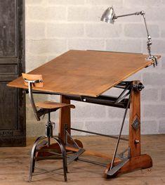 pour mon bricoleur de mari , pour faire ses dessins et plans... la table idéale...                 « Rénover le mobilier industriel », ouvrage pour les bricoleurs avertis | Blog Déco'In