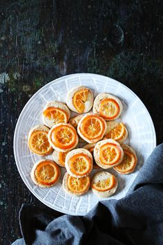 Five-Spice Shortbread Cookies with Candied Clementines