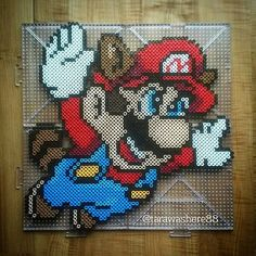 Super Mario 3 perler beads by tarawashere88