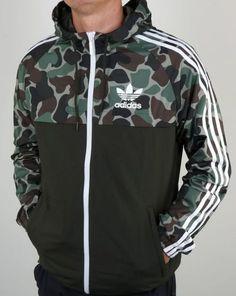 f9d57b905cfe Adidas Originals Men s Camo Windbreaker Jacket- Men s Large