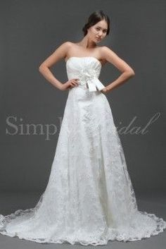 d3c8ed2efb96 Wedding dress by SimplyBridal. The perfect strapless dress for the female