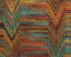 Missoni Ensemble with the characteristic Zig Zag pattern, detail, 1968. Via KSU Museum