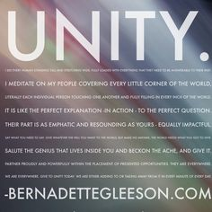 """This is Unity to me as a verb, not a noun. Values are meant to be lived not just talked about - this is what it looks like in my life. A """"Recovery To"""" Philosophy is all about defining each value in our lives as verbs. We need to visualize us living from our tight, ripped core of ours - sturdy - and giving exactly what we want to the world. It is no longer about what is wrong with us because there is so much right about us."""