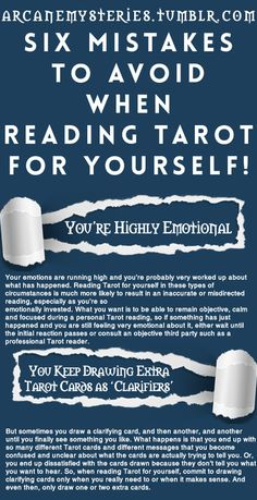 Arcane Mysteries Tarot Tips http://arcanemysteries.tumblr.com/