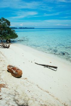 White-sand beaches at Tiger Island in the Thousand Islands