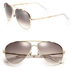 Gucci Bamboo 59MM Aviator Sunglasses (590 CAD) ❤ liked on Polyvore featuring accessories, eyewear, sunglasses, apparel & accessories, gold, gucci glasses, gucci sunglasses, aviator sunglasses, gold aviator sunglasses and gold glasses