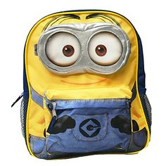Despicable Me 3D Goggle Mini Minion Backpack - Dave. Dave! Fun Backpack with your favorite minion!.