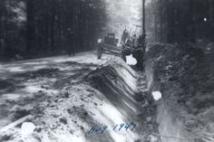 """""""Ditching"""" along Waverly Rd. in 1941. Happy #ThrowbackThursday! #tbt"""