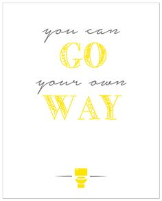 go your own way free printable bathroom art - Free Printable Bathroom Art