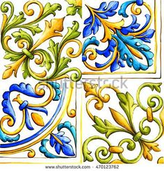 Find maiolica stock images in HD and millions of other royalty-free stock photos, illustrations and vectors in the Shutterstock collection. Design Elements, Design Art, Fireplace Tile Surround, Italian Tiles, Tuile, Art Mural, Tile Art, Pictures To Paint, Tile Patterns