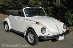 I bought a 1974 VW Super Beetle Convertible in 1997.  This was my play car and I still have it too, but mine is Lipstick Red with a black top.  =D