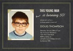 Insert your own photo Men's Birthday Party Invitations. #mens_birthday_invitations