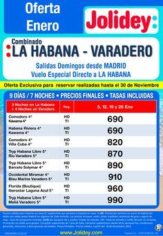 Oferta Combinado La Habana - Varadero Enero desde 690€, Salidas Domingos desde Madrid - http://zocotours.com/oferta-combinado-la-habana-varadero-enero-desde-690e-salidas-domingos-desde-madrid/
