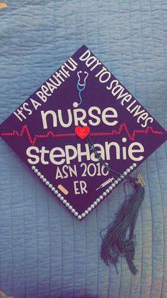 Nursing school graduation cap! It\'s a beautiful day to save lives!