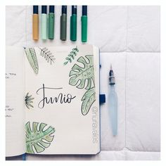 """903 Likes, 9 Comments - Bullet journal & Studygram (@nuriavales) on Instagram: """"J U N I O (Tenéis en la publicación anterior el vídeo del proceso ☺️)"""""""