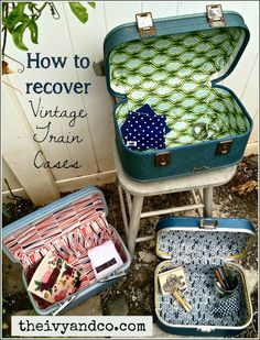 Ivy & Co. how to recover a vintage train case
