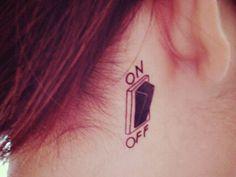 Weiteres - ON OFF Temporary Tattoo Boho Hippie Flash Schalter - ein Designerstück von Kleines-Karma bei DaWanda