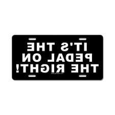 CafePress Life is Simple Pedal II Aluminum License Plate Front License Plate Aluminum License Plate Vanity Tag