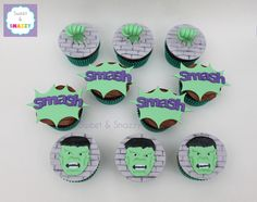 Hulk Cupcakes by Sweet & Snazzy https://www.facebook.com/sweetandsnazzy
