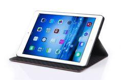 Moderne klassische Karo Lederhülle für iPad Air 2 - spitzekarte.com