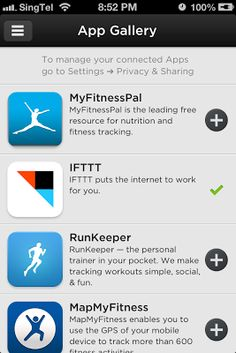 Jawbone Up App - App Gallery