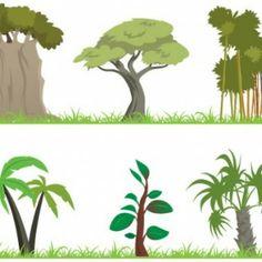 vector árbol de la selva
