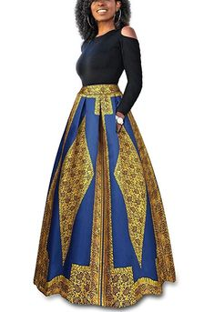 online shopping for Wancy Womens Long Sleeve Cold Shoulder Top Floral Maxi Skirts Dress Party 2 Pieces Set from top store. See new offer for Wancy Womens Long Sleeve Cold Shoulder Top Floral Maxi Skirts Dress Party 2 Pieces Set African Print Dresses, African Fashion Dresses, African Dress, African Clothes, African Prints, African Style, Ankara Fashion, Xl Fashion, African Wear