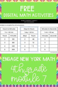 Master the skills taught in Engage New York Math Grade 4 with these FREE digital math activities. These interactive math worksheets are on Google Slides, so you can easily move pieces or fill in blanks to solve 4th grade math problems to review Engage New York Math Grade 4. These are perfect for digital math centers or interactive math worksheets. Best of all? They are FREE at TheProductiveTeacher.com! #engagenewyork #digitalmath #onlinemath #interactivemathworksheets #TheProductiveTeacher Fractions Worksheets, Teacher Worksheets, Math Fractions, Multiplication, Subtraction Activities, Fraction Activities, Math Activities, 4th Grade Math Problems, Division Activities
