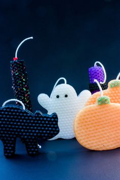 kinda loving this...Halloween Beeswax Candles...how to...