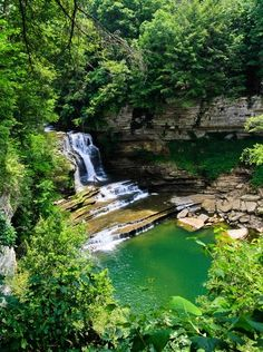 Cummins Falls—Cummins Falls State Park, Tennessee: There's something almost theatrical about the setup here at this 211-acre park about 80 m...
