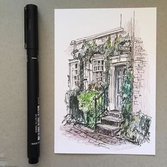 #art #drawing #pen #sketch #illustration #unipin #architecture #house #fabercastell