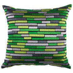 Green Batan Cushion at Temple and Webster (Kas)