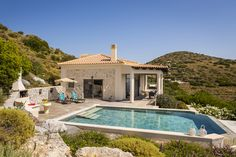 Where to stay when you want your own private villa in Kefalonia. Villa Eros is rated one of the best luxury one-bedroom villa in Kefalonia Paradise Found, Home And Away, Greek Islands, Swimming Pools, Places To Go, Villa, Vacation, Mansions, House Styles