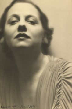 'Lucienne Boyer' 1935 by Laure Albin Guillot (French 1879-1962)