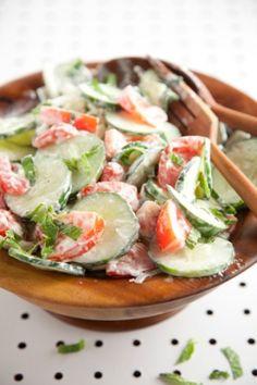 Paula Deen Cucumber, Tomato, Mint Salad