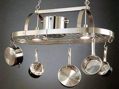 A Pot Rack in Its Proper Place : Home Improvement : DIY Network