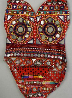 funky eclectic boho swimsuit