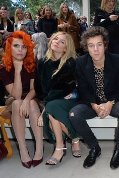 Paloma Faith, Sienna Miller and Harry Styles Front Row at Burberry [Photo by James Mason - JAB Productions]
