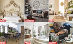 Interiors experts from theonline home furnishings and décor brand Hayneedle have revealed the different domestic environments that each star sign thrives in.