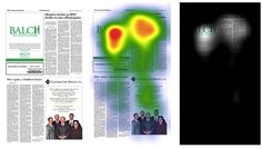 Balch EYE TRACK heat map  and opacity map. What do people look at?  - law firm marketing print advertisement Fishman Marketing