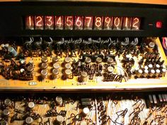 Sharp Compet 16 from 1968 - The nixie display