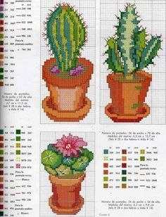 Succulent life: To my friends in viciadinhas Cacti and Succulents, risks to embroider, paint, templates and ideas to create . Cross Stitch Bird, Cross Stitch Flowers, Cross Stitching, Cross Stitch Embroidery, Cactus E Suculentas, Cactus Embroidery, Free Cross Stitch Charts, Modern Cross Stitch Patterns, Beading Patterns