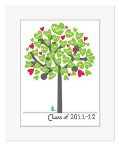 My Class Tree Print - Lovely gift idea for a Teacher from the class £16.95