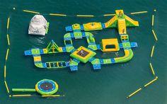 Floating water park in Marbella