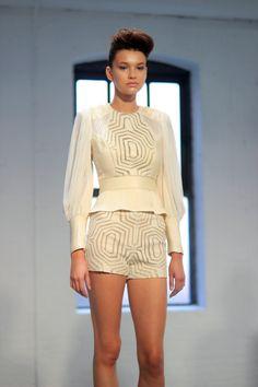 Catherine Malandrino Majestic Beading & Laser Cuts - Spring 2013 - New York Fashion Week | ICON