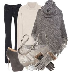 """""""Cozy Sunday"""" by orysa on Polyvore....minus those crazy heels.."""