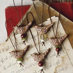 berries & twigs ceramic bird christmas ornaments by kylie parry studios